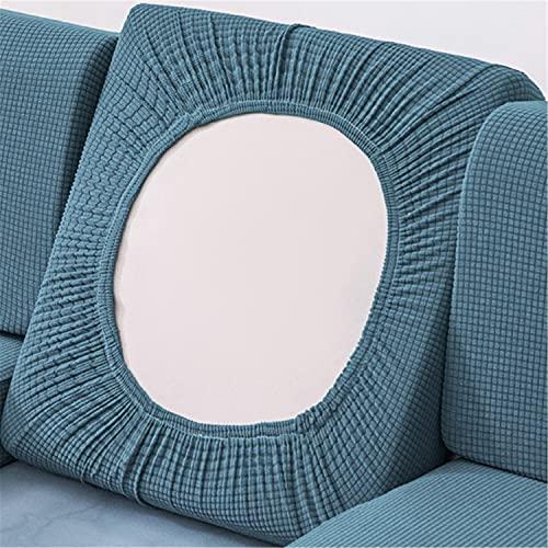 NLCYYQ Fundas de cojín de sofá impermeables, fundas de cojín elásticas para sofá, cojines individuales (azul, grande de 1 plaza)