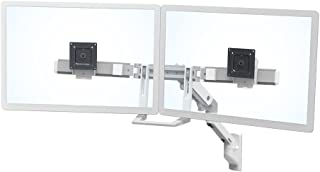 Ergotron 45-479-216 HX Wall Mount Dual Monitor Arm in White for Monitors Less or Equal to 17.5 lbs