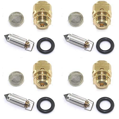 Carburador Piezas de seguridad de la válvula de aguja flotante compatibles con el kit de reparación del carburador de la motocicleta LTZ400 YFM660 LTZ L-TZ 400 YFM 660 Grizzly Reemplazo de piezas de a