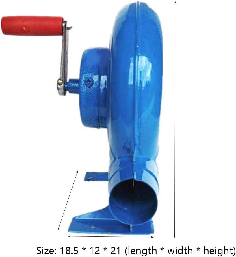 WKZWY-furniture cover 150w Soufflerie À Manivelle Manuelle De Souffleur Manuel De BBQ, Ventilateur à Main Ventilateur Manuel pour Barbecue (Color : Blue) Blue
