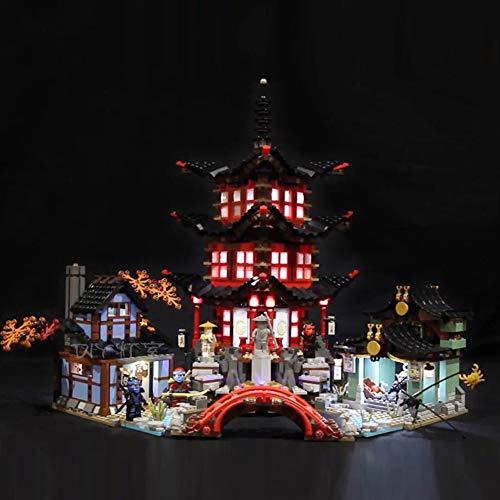 Licht-Set Für (Ninjago Temple of Airjitzu) Modell - LED Licht-Set Kompatibel Mit Lego 70751 - Modell Nicht Enthalten