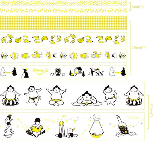 Leo's Choice 1.5cmX2m Cute Kitty and Energetic Life Style Washi Tape Set of 16