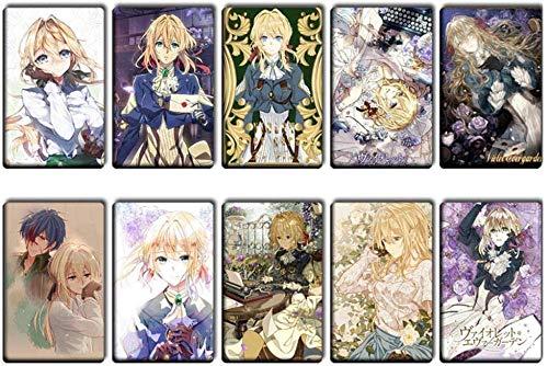 Goth Perhk 10PCS / Set Anime Violett Evergarden Kristall Karten Sticker Fotokarte Lomo Karten Cosplay Manga Sticker Geschenk für Fans - Stil 4