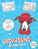 Greyhound Coloring Book: Adult Illustrations to Color + Food Journal,...