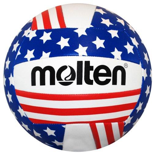 Molten Volley de Loisirs, Mixte Femme Enfant Fille Homme, MS500-FLAG, Étoiles/Rayures, Official