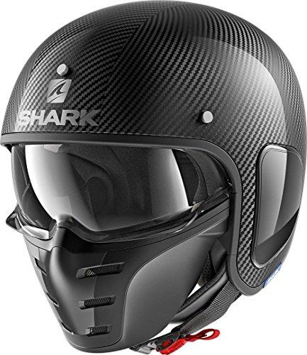 SHARK Herren NC Motorrad Helm, Schwarz, XL