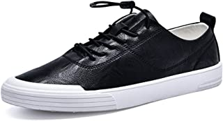 XUJW-Shoes, Fashion Sneaker for Men Sports Shoes Lace Up Style Microfiber Leather Soft Round Toe Simple Solid Colors Lightweight Durable Comfortable Walking (Color : Black, Size : 7 UK)