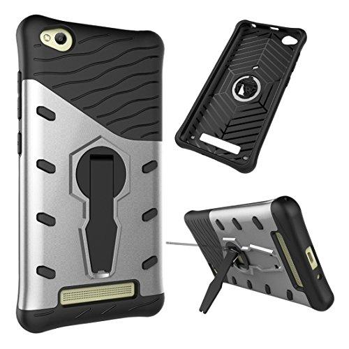 Casse del telefono mobile & Cover, Xiaomi redmi 4A Shock-Resistant 360 gradi Spin caso Sniper ibrida TPU + PC caso combinazione con il supporto