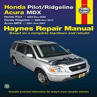 Honda Pilot 2003-2008, Ridgeline 2006-2012 & Acura MDX 2001-2007 Repair Manual (Haynes Repair Manual) - coolthings.us