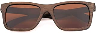 LUKEEXIN Unisex Bamboo Wood Retro Polarized Sunglasses for Travel Outdoor, UV400 (Color : Brown)