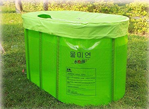 Sunjun& Double Bain Pliant Non Gonflable Baignoire Pliante Baignoire pour Adulte (Couleur : Vert)