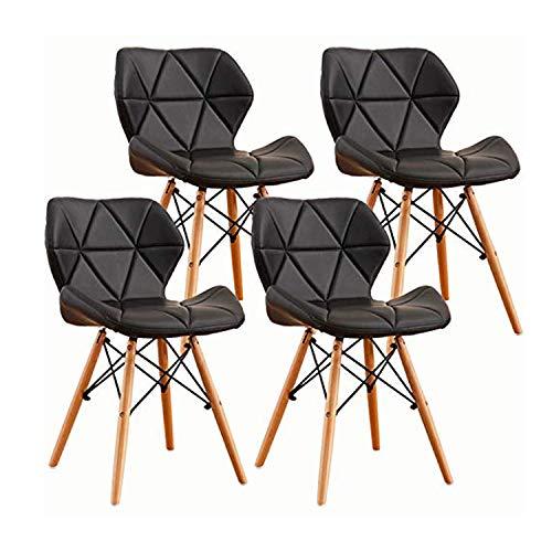 LOVEMYHOUSE Set di 4 sedie Tipo di Farfalla Sedia da Pranzo Schienale,Set di 4 Nero,Comode Sedie da Ufficio Imbottiti