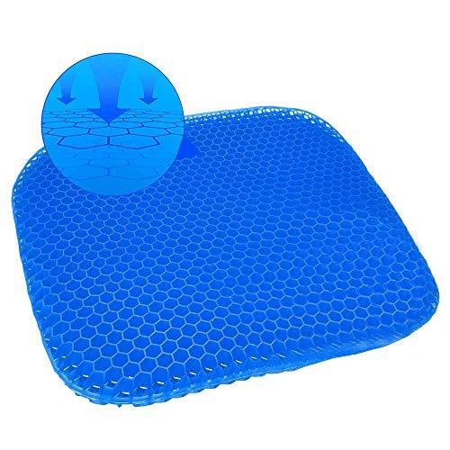 Dikke grote gel zitkussen, nieuwste gemodificeerde dubbele gel zitkussen, voor drukverlichting Ruggengraatpijn - Thuiskantoor stoel Auto's Rolstoel