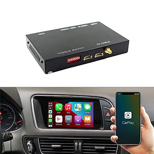 Carlinkit Wireless Carplay Android Auto Module Receiver Box for Audi S4 S5 A4 A5 Q5 2010-2017 Year, Carplay Retrofit Kit Decoder,Support MirrorLink,Air-Play,Siri,Original Controls,HDMI USB Camera