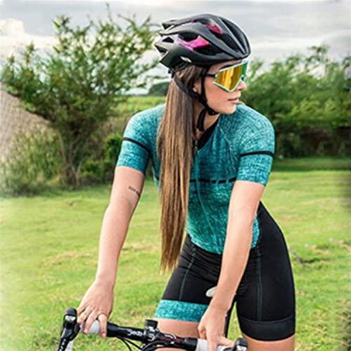 Damen Triathlon Radfahren-Anzug Jumpsuit Professioneller Sportkleidung Spur und Feld Sportzyklus Sportswear (Color : 71, Size : XXS)