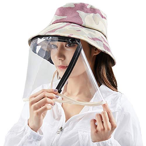 Women's Summer Ademende Sunscreen Hoed met Speeksel Splash bescherming van het scherm Outdoor Wind And Dust Het blokkeren van schadelijke stoffen
