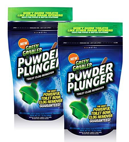 POWDER PLUNGER Toilet Bowl Clog Remover | Toilet Clog Eliminator |...