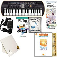 Homeschool Music - Piano Pack (Hallelujah) W/Casio SA76 Keyboard w/Adapter, learn 2 Play DVD/Book, Symphonic Note Speller Vol. 1 & All Learning Essentials