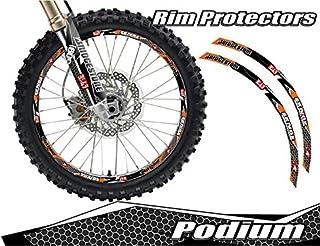 Senge Graphics Podium Orange rim protector set for one 18 inch rim and one 21 inch rim
