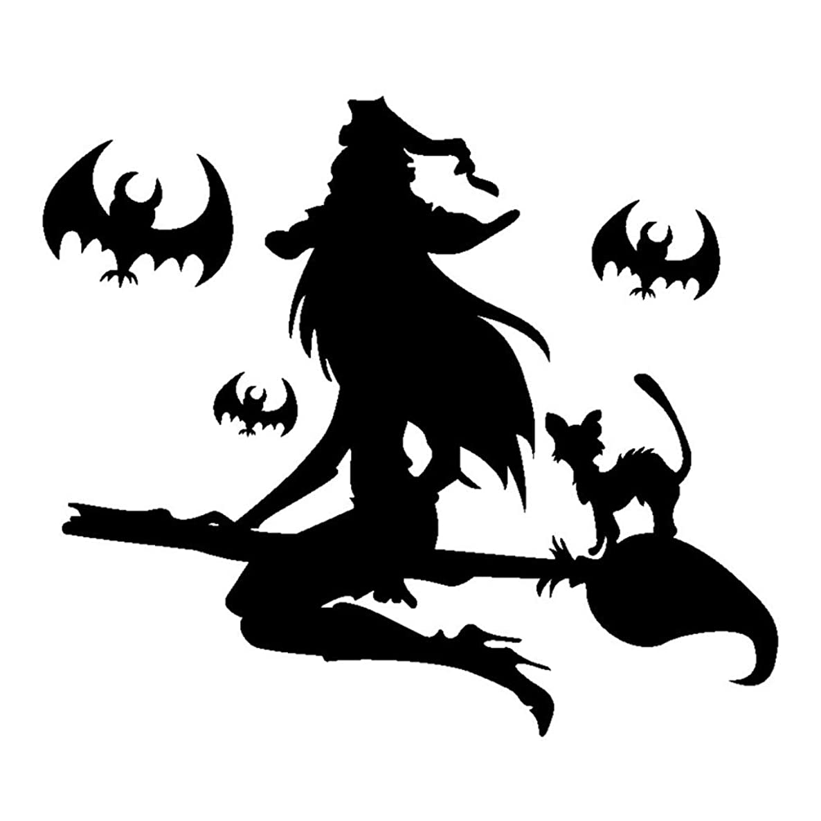 Domccy 6040cm Halloween Witch Labels Wall Sticker, Stickers Halloween Witch Wall Stickers in The Bedroom or Decoration of Halloween Witch Black DIY and Tools, Painting Supplies Wall Treatment