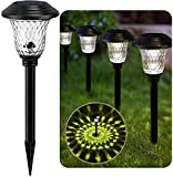 BEAU JARDIN 8 Pack Solar Lights Bright Pathway...