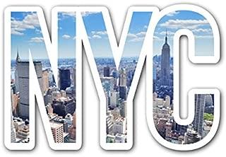 CUSTOMI NYC Day Skyline New York City Decal Sticker for Car Truck MacBook Laptop Air Pro Vinyl