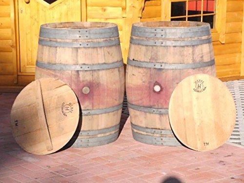 JUNIT 600L Weinfass Regentonne aus gebrauchtem Eichenfass inkl. Deckel