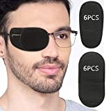 Eye Patches for Adults Kids - VEEJION 12 Piece Eye Patch for Glasses Treat Lazy Eye Amblyopia Strabismus for Left or Right Eyes (Black)