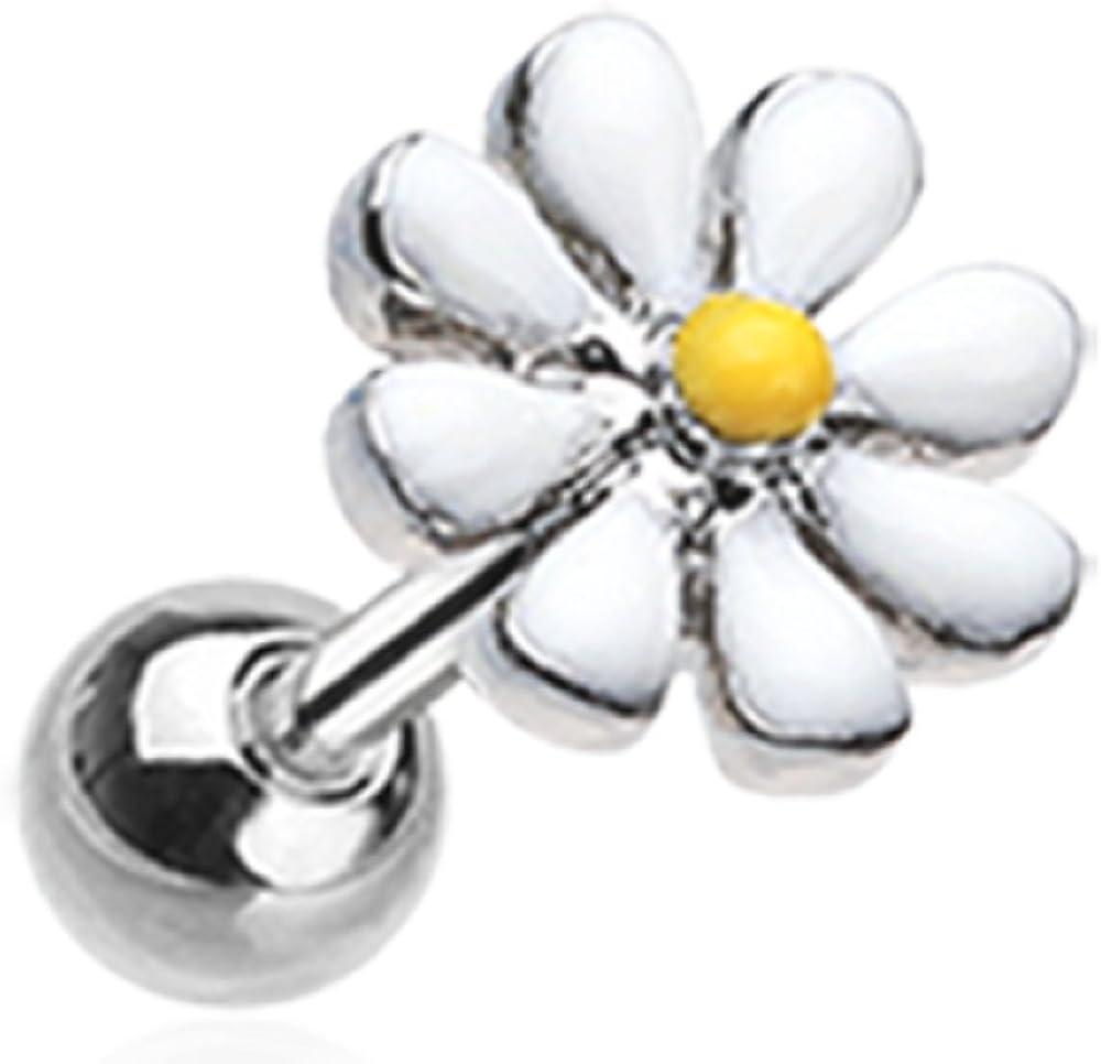 Labret Blossom Daisy Top Monroe Body Jewelry Piercing Lip Chin Tragus 16g 1pc