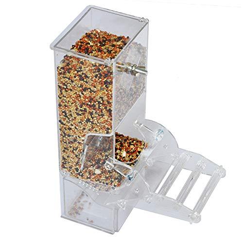 NgMik Comedero de pájaros para Semillas Loro alimentador automático alimentador Piel del Tigre Xuanfeng Poco alimentador de Sun Gran Idea de Regalo para los Amantes de la Natural