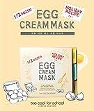TOO COOL para la escuela media docena de huevos color crema máscara (3pares)–Huevo De Firming, crema, poro Apriete máscara Set