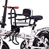 DPGPLP Asiento de bicicleta para niños, asiento delantero de seguridad de desmontaje rápido, con barandilla y pedal, apto para bicicleta