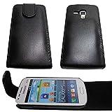 caseroxx Flip Cover für Samsung Galaxy Trend Plus s7580, Bolso (Flip Cover en Negro)