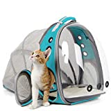 Cat Carrier Backpack, Expandable Pet Backpack for Small Dog, Space Capsule Bubble Transparent
