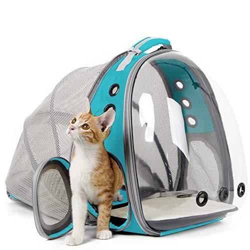 halinfer Expandable Cat Backpack Carrier, Space Capsule Astronaut Bubble Transparent Window Pet...