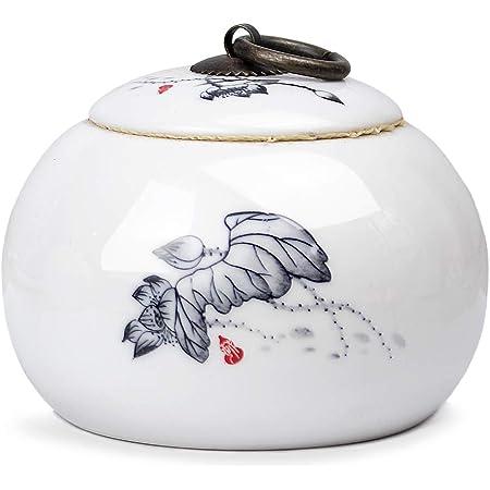 Jingyig Tea Pot Tea Storage Can Ceramics Tea Sealed Containers Creative Persimmon Shape Tea Ceramics Tank Coffee Nut Sealed Containers Kitchen Supplies Beautiful Cute 2pcs