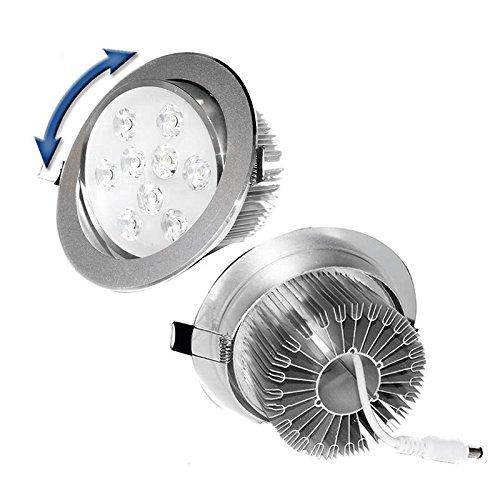 ECD Germany 10 x Bombilla LED empotrable Proyector integrado 9W 220-240V Spot...