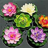 Annfly Plástico Artificial Lotus Flotante Espuma Lotus Leaf Estanque Decoración Flor Decoración Hogar Decoración
