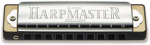 Suzuki MR200C Harpmaster Harmonica diatonique en do 10 trous Chrome (10cm)