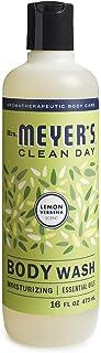 Mrs. Meyer's Clean Day Jabón Líquido Corporal, Sin Parabenos, Formulado con Aceites Esenciales, Verbena de Limón, 473 ml