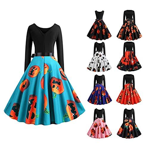 Vestido feminino retrô de bolinhas dos anos 50 para festa e coquetel rockabilly, 07 - Vermelho, P