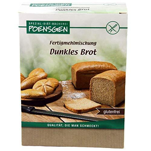 Dunkles Brot Backmischung Glutenfrei 500 g (5,38 € / kg) - Poensgen
