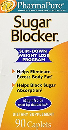 PharmaPure Sugar Blocker Slim-down Weight Loss Program (90 Caplets) (Pack of 2)
