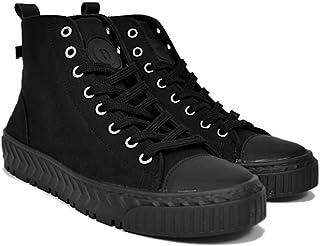 Altercore Romia Scarpe Donna Tela Nero Alte Trainers Sneakers