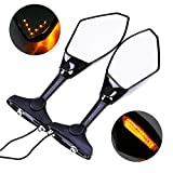 Aeroway Motorcycle Rearview Side Mirrors With...