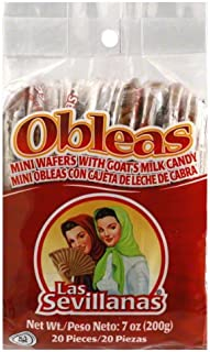 Las Sevillanas Obleas Con Cajeta, 7-Ounce (Pack of 5)