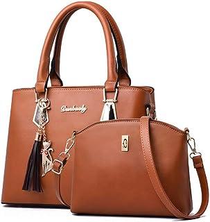 Women bag Casual women's handbags Luxury handbag Shoulder bags new bags for women Composite bag,Brown,S
