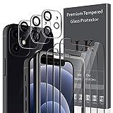 LK Compatibile con iPhone 12 Mini 5.4 Pollice Pellicola Protettiva, 3 Pezzi Vetro Temperato e 3 Pezzi Protezione Fotocamera Protezione Schermo Pellicola, Strumento Una Facile Installazione