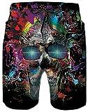uideazone Mens Swimming Trunks 3D Splash Skull Graphic Quick Dry...