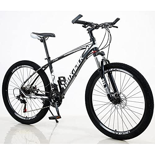 Bicicleta De Montaña De Aleación De Aluminio, Freno De Aceite del Amortiguador, Bicicleta De Montaña-Blanco Y Negro (Velocidad Delantera Y Trasera)_De 8 Velocidadesbatería De Células